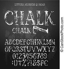 Chalk english alphabet