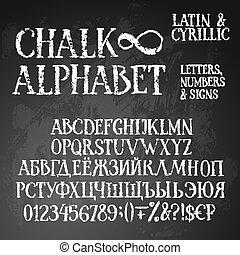 Chalk grunge alphabet