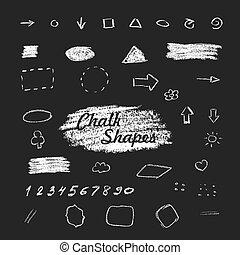 Chalk hand drawn shapes
