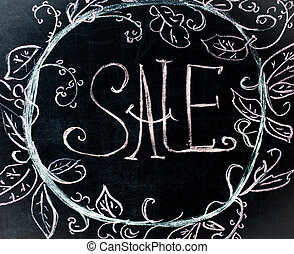 chalk inscription, on sale, black chalkboard