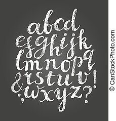 Chalk latin script font.