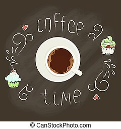 cup of Coffee with cupcakes