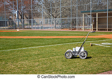 Chalk LIne Machine on Baseball Field