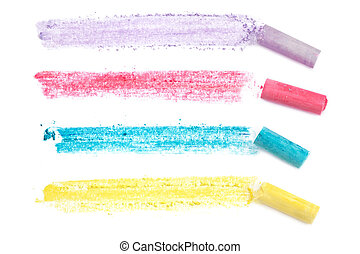 Chalk Lines - Pastel chalk lines, over white. Design...