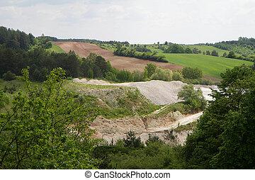Chalk mine