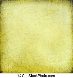 Chalk scratch yellow background with grunge frame