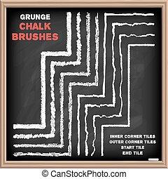 Chalk vector brushes set