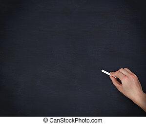 chalkboard , χέρι