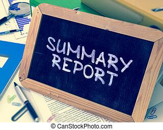 chalkboard., レポート, 手書き, サマリー