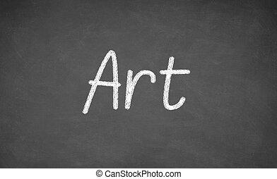 chalkboard., 黒板, レッスン, 芸術, ∥あるいは∥