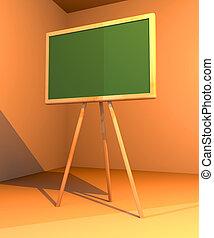 Chalkboard 1 - 3D rendered Chalkboard. Retro Style. Freaky...
