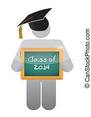 chalkboard., 2014, classe, presa a terra, icona