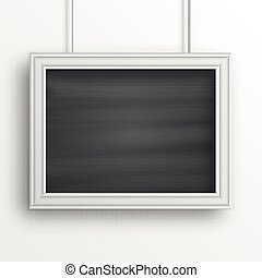 Chalkboard background with white frame isolated on the white...