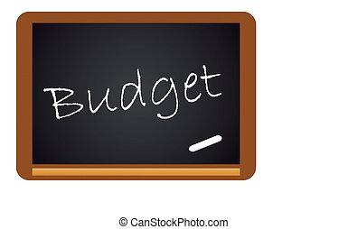 chalkboard, begroting