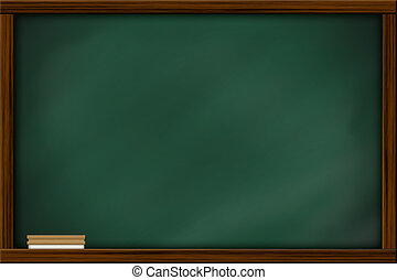 Chalkboard blackboard with frame and brush. Chalkboard...