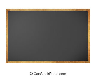 Chalkboard blackboard with frame isolated on white background