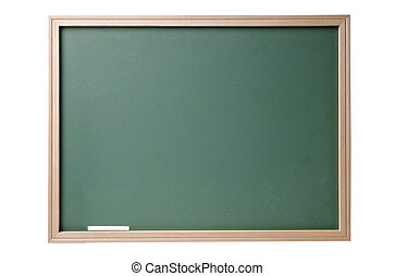 Chalkboard blackboard with frame isolated