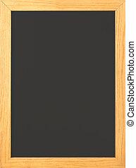 Chalkboard - Blank Old fashioned blackboard with wooden...