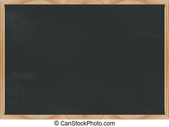 Chalkboard blank - Slighty dusty blank chalk board