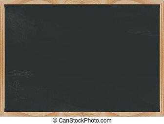 Chalkboard blank - Slighty dusty blank chalk board