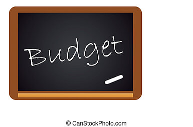Chalkboard Budget isolated