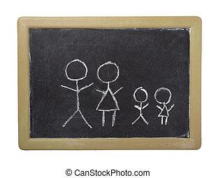 chalkboard, casa, lar, bens imóveis, arquitetura, construção