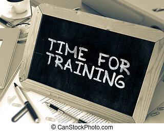 chalkboard., citazione, training., inspirational, tempo