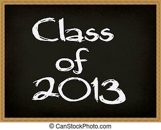 chalkboard., classe, 2013