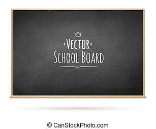 Chalkboard. Vector illustration.