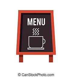 chalkboard coffee restaurant menu