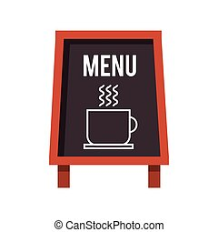chalkboard coffee restaurant menu