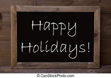 chalkboard, com, feliz, feriados