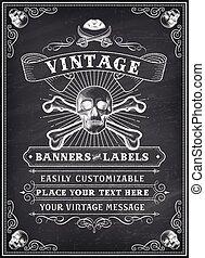 Chalkboard Death Pirate Invite