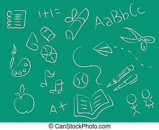 chalkboard, desenhos