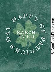 Chalkboard design for St. Patrick's Day