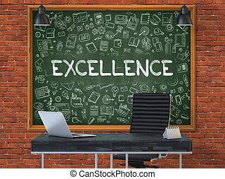 chalkboard., doodle, concept., doskonałość, ikony