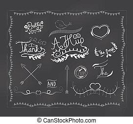 chalkboard doodle frame