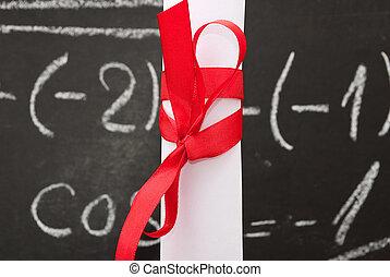 chalkboard, dyplom