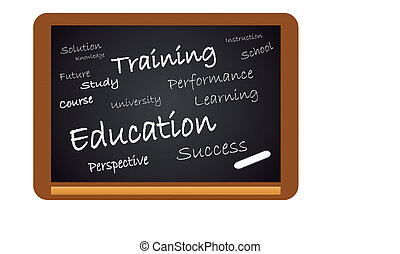 Chalkboard Education isolated