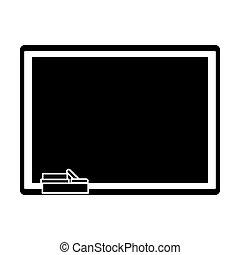 chalkboard eraser chalk pictogram