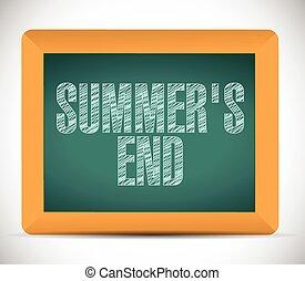 chalkboard., estate, scritto, fine, messaggio