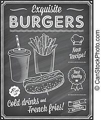 Chalkboard Fast Food Menu Template2