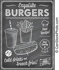 Chalkboard Fast Food Menu Template2