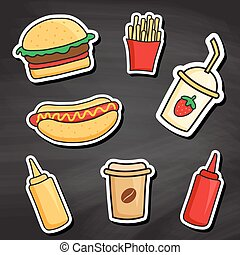 chalkboard fastfood