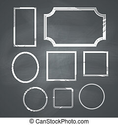 Chalkboard Frames - Chalkboard retro background with frames....