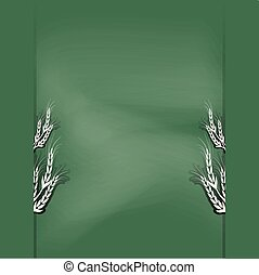 chalkboard illustration background