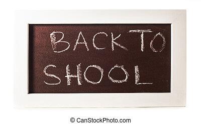 chalkboard isolated