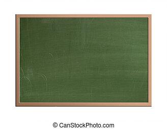 chalkboard, isolerat, tom