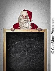 chalkboard, jultomten