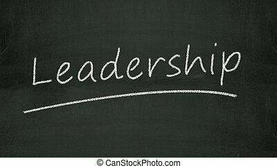 chalkboard leadership illustration